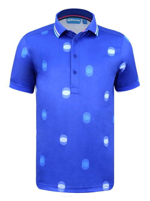 CMAX Overlap Spot Polyester Polo Shirt - Electric Blue - Various Sizes (sample)