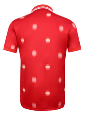 Cmax Overlap Spot Golf Polo Shirt - Red