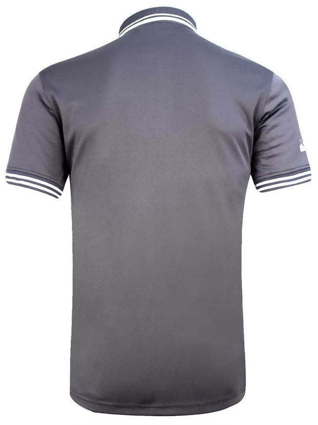 Bunker Mentality Cmax Grey Golf Shirt with Paisley print and contrast tipping - Back