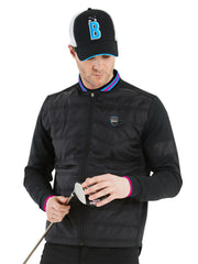 Bunker Mentality Cooper Black Padded Insulated Wind Golf Jacket with Baseball Collar - Model