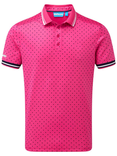 Cmax Single Spot Tech Golf Polo Shirt - Pink