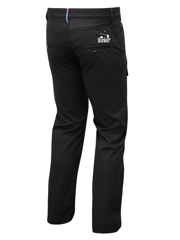 Bunker Mentality T Vault Black Mens Golf Trousers - Back