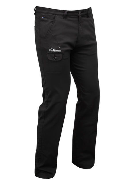 Bunker Mentality T Vault Black Mens Golf Trousers - Front