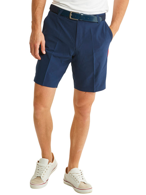 Bunker Mentality Navy Mens Golf Shorts with Signature taped pocket - Model
