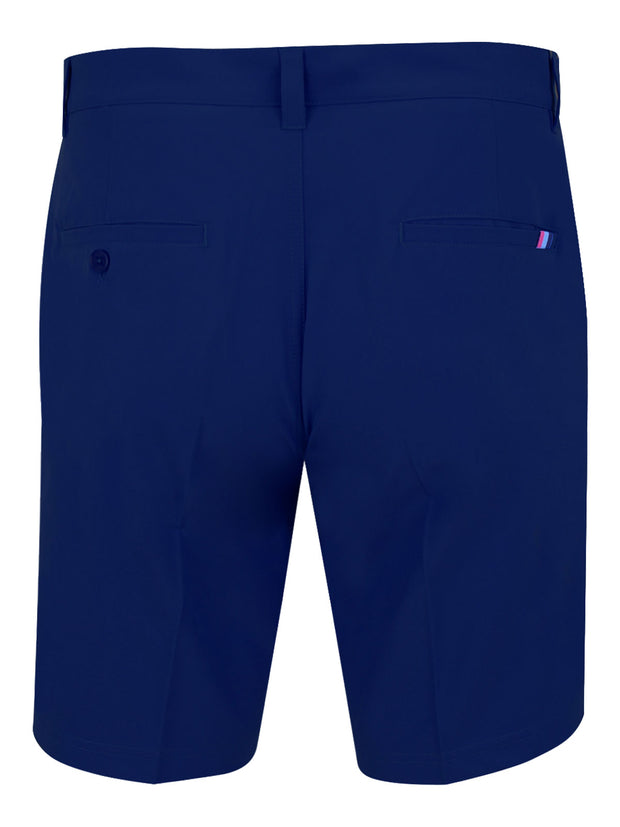 Bunker Mentality Navy Mens Golf Shorts with Signature taped pocket - Back