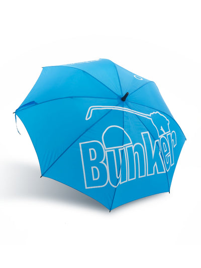Bunker Mentality Blue Golf Umbrella Logo Open