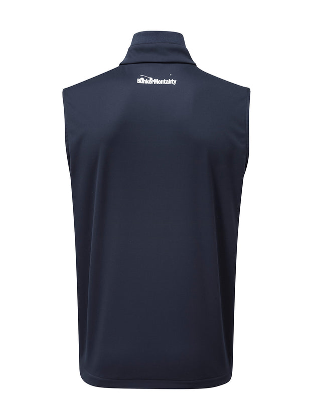 Bunker Mentality Elliot Navy Blue Mens Windproof Golf Vest Gilet - Back