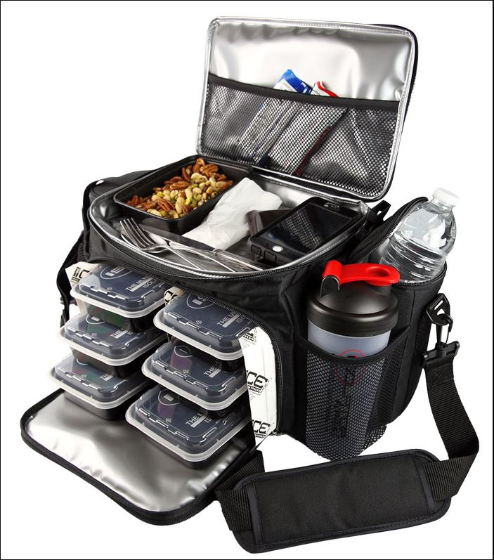 6 Pack Meal Man Fitness Food Prep Bags Reach Multiplier