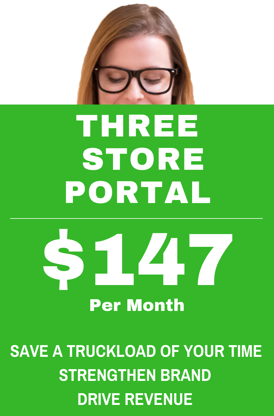 THREE STORE PORTALS