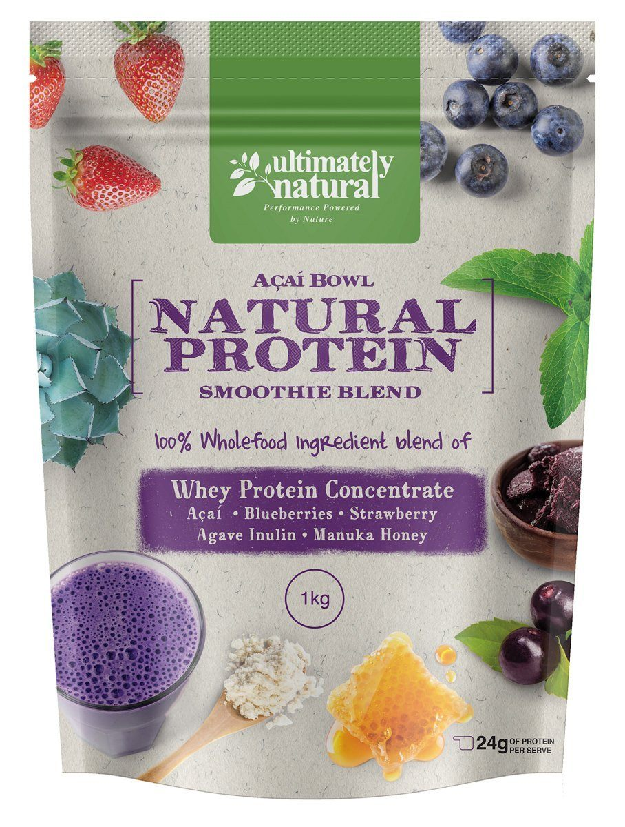 Acai Berry Bowl Natural Whey Protein Powder Reach Multiplier