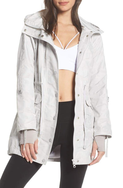 Camo Hooded Anorak Grey Reach Multiplier XS