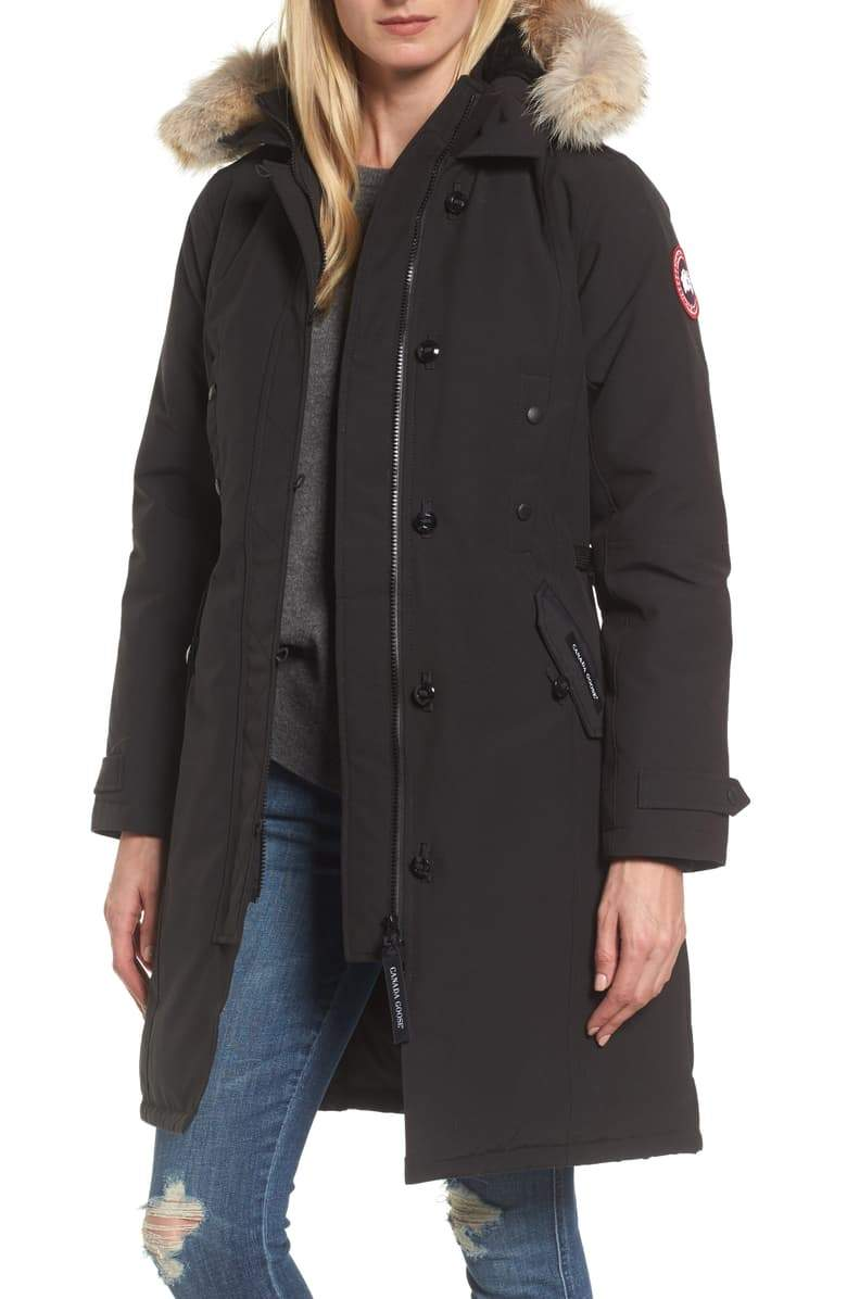 Kensington Slim Fit Down Parka with Genuine Coyote Fur Trim Reach Multiplier