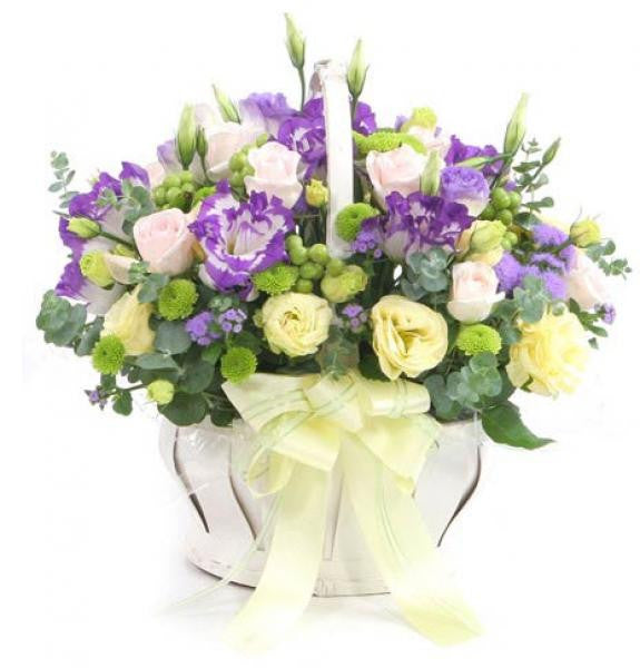 Playfully Purple Spring Basket