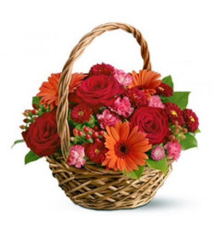 Fiery Sunrise Basket