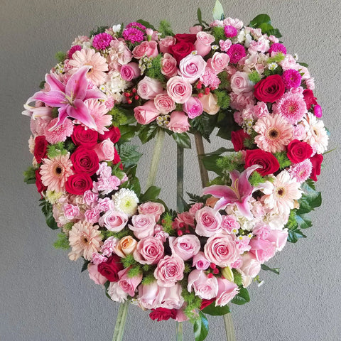 Garden of Wishes Heart Wreath
