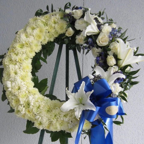 Delicate Blue Open Wreath