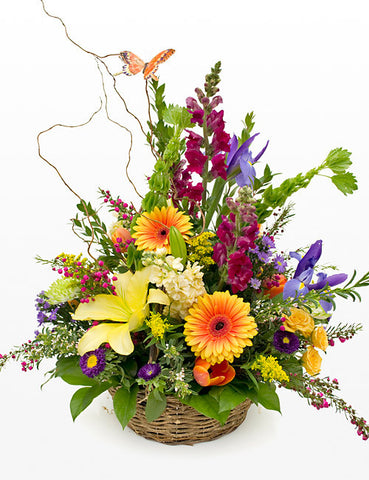 Blooming Joy Basket Arrangement