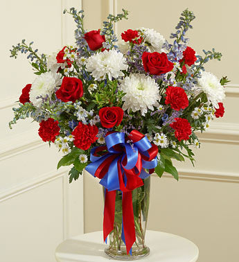 Loving Patriot Vase Arrangement