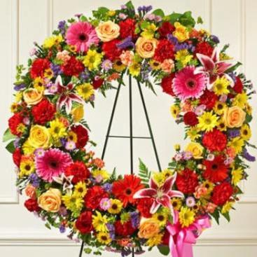 Bright and Cheery Open Wreath