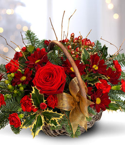 Christmas Flowers Basket