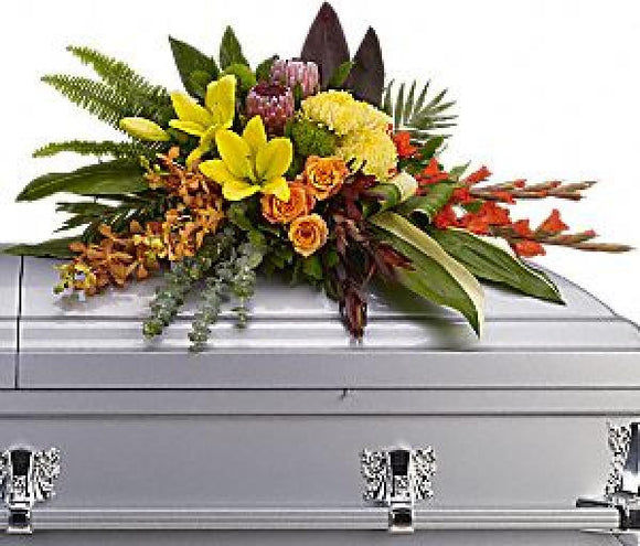 Tropical Memories Casket Spray