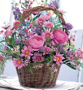 Purple and Lavender Basket