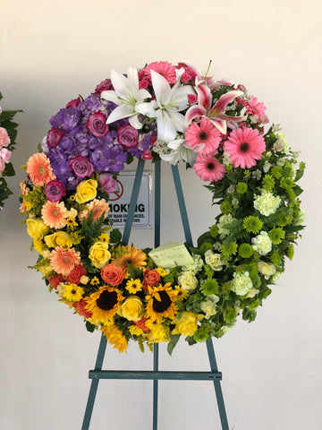 Rainbow Open Wreath