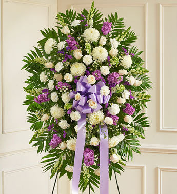 Lavender and White Tribute Spray