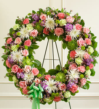 Sweet Pink and Lavender Open Wreath
