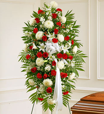 Red and White Tribute Spray