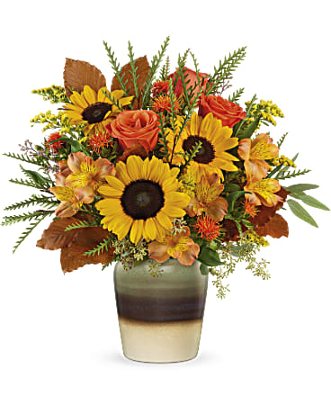Autumn Sunflower Vase