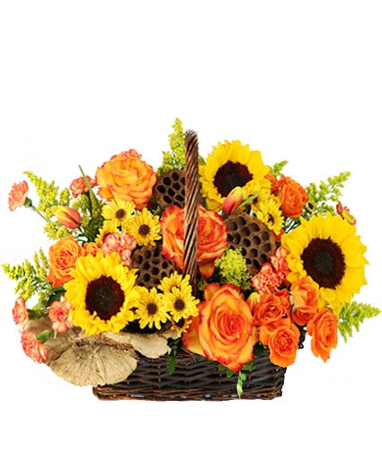 Autumn Sunflower Basket