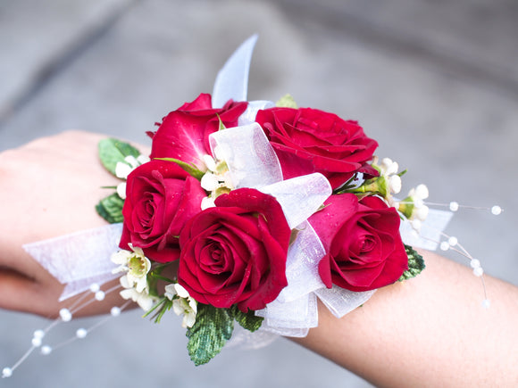 Corsage w/ Red Mini Roses