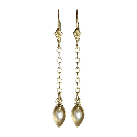 10kt Gold Petal Earrings