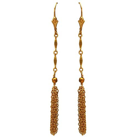 Gold Fill Tassel Earrings