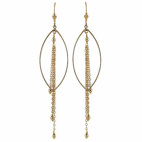 Gold Chain Fall Earrings