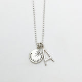 Modern letter necklace A-with-Charm