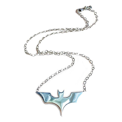 Sterling Silver Batgirl Necklace