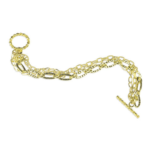 Gold Fill Multi Strand Bracelet