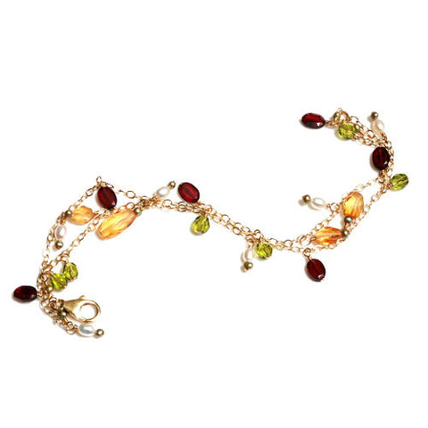 Fall Gemstone Bracelet