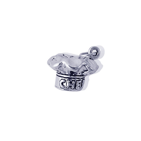 Sterling Silver Chef's Hat Charm