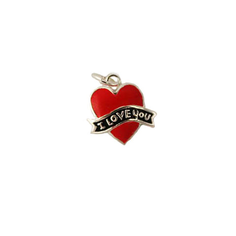 Enamel I Love You Heart Charm