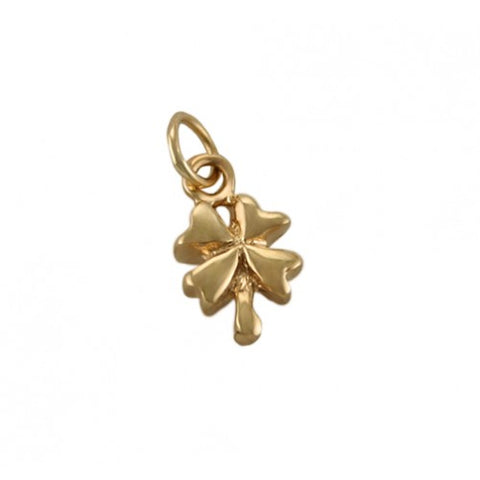 14kt Gold Four Leaf Clover Charm