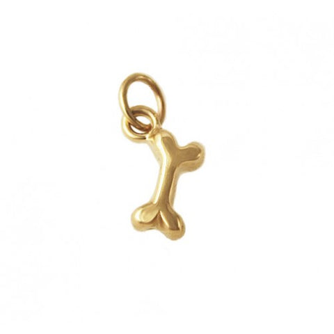 14kt Gold Dog Bone Charm