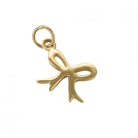 14kt Gold Bow Charm