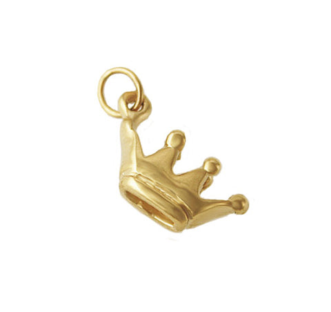 14kt Yellow Gold Crown Charm