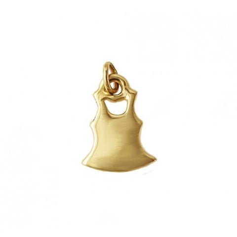 14kt Gold Dress Charm