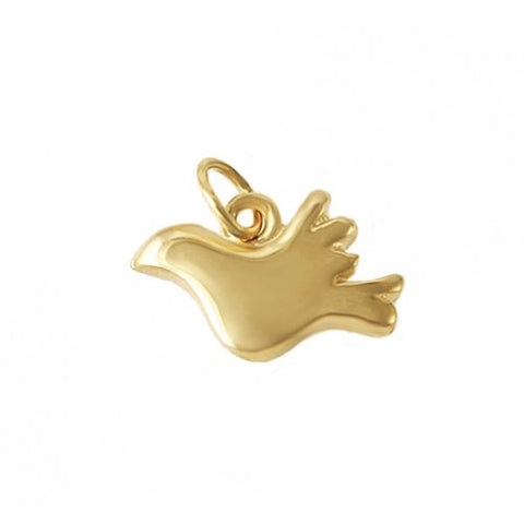 14kt Gold Dove Charm