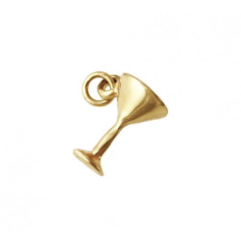 14kt Gold Martini Charm