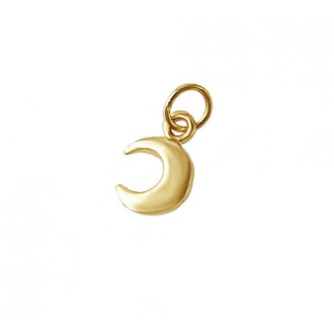 14kt Gold Moon Charm